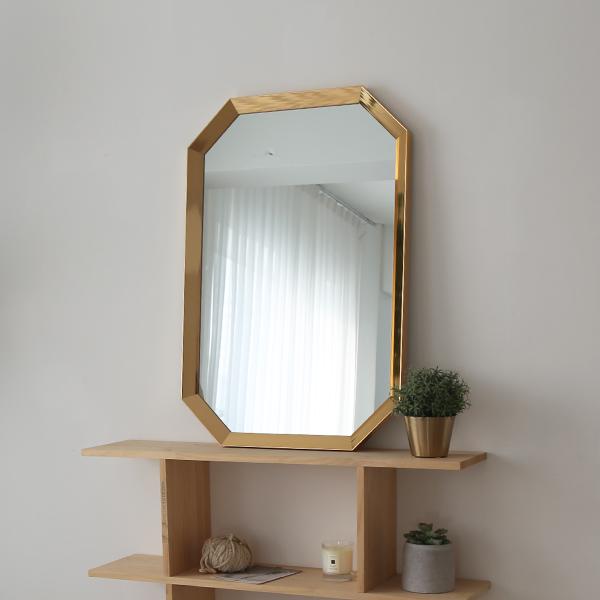 로만 팔각 골드 거울 600x900 ps715