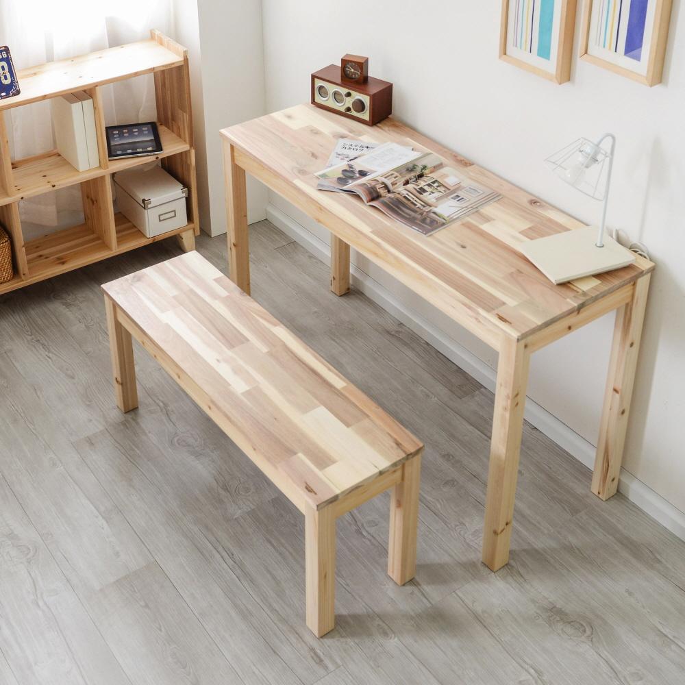 원목 슬림테이블 책상 1200x450 (삼나무,아카시아)