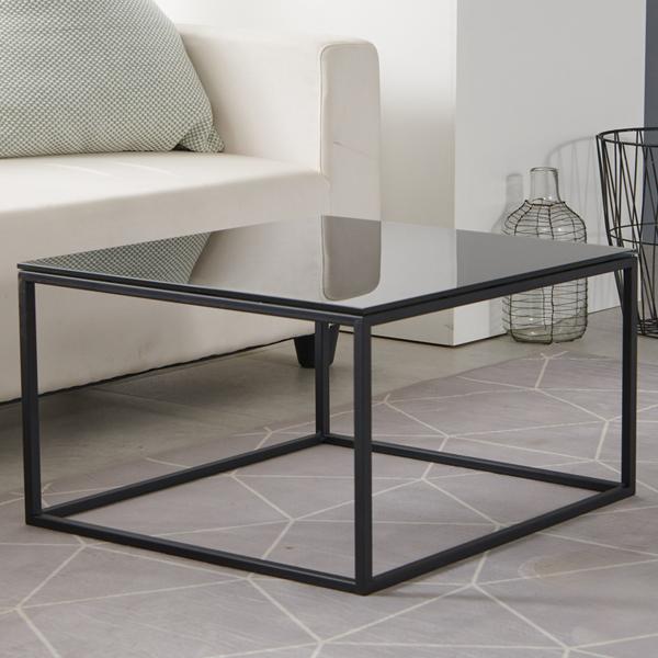 하우스틸 철제 강화유리 거실 테이블 750