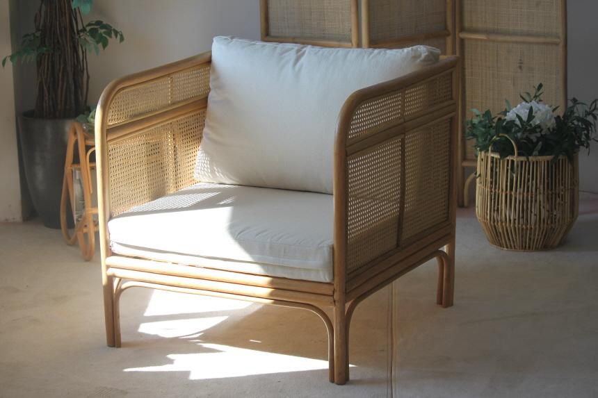 비앙코가구 라탄의자 1인용안락 홈바 암체어 의자 mare