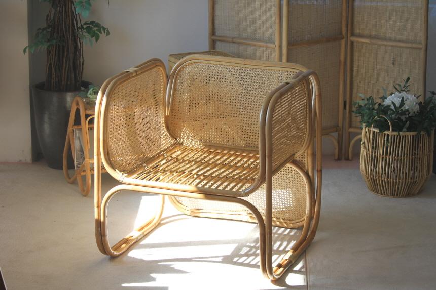 라탄의자 1인용안락 홈바 암체어 의자 ONDA