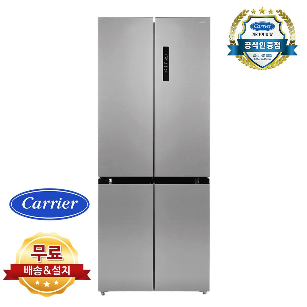 캐리어 피트인 497L 4도어 양문형 냉장고 CRF-SN497MFC 무료 설치